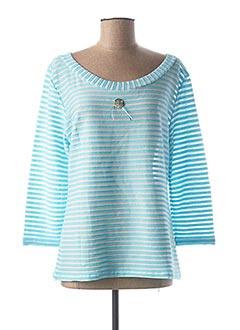 T-shirt manches longues bleu LO! LES FILLES pour femme