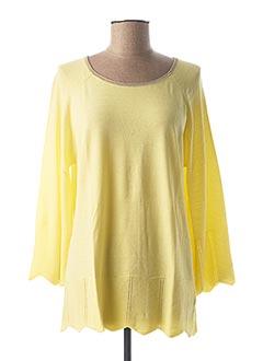 T-shirt manches longues jaune ODEMAI pour femme
