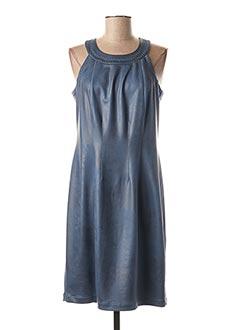 Robe mi-longue bleu EVA KAYAN pour femme