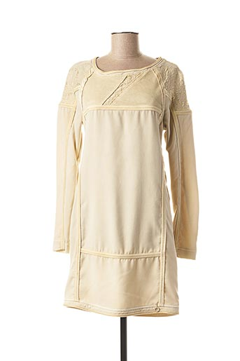 Robe courte beige DANIELA DALLAVALLE pour femme