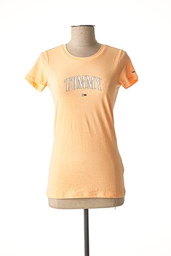 T-shirt manches courtes orange TOMMY HILFIGER pour femme