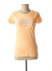 T-shirt manches courtes orange TOMMY HILFIGER pour femme seconde vue