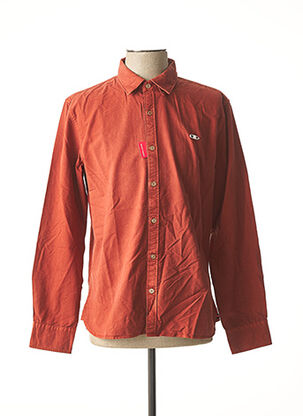 Chemise manches longues orange OXBOW pour homme