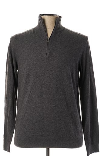 Pull col cheminée gris SELECTED pour homme