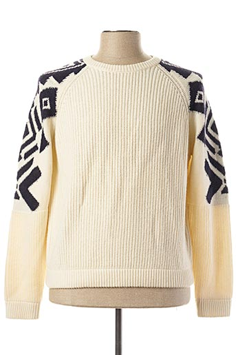 Pull col rond beige OXBOW pour homme