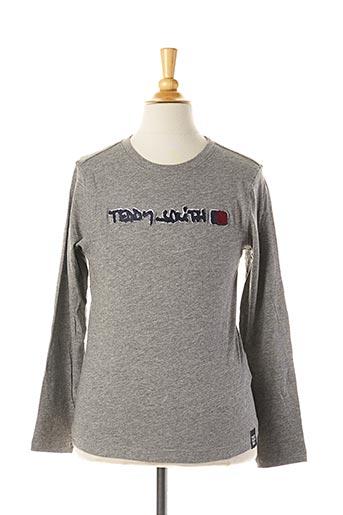 T-shirt manches longues gris TEDDY SMITH pour garçon