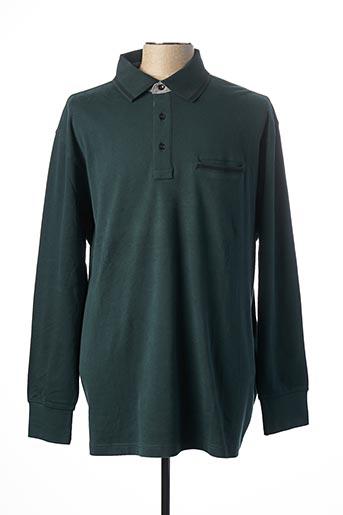 Polo manches longues vert MAXFORT pour homme