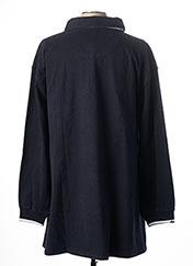 Polo manches longues bleu KITARO pour homme seconde vue