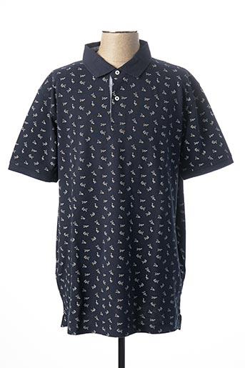 Polo manches courtes bleu KITARO pour homme