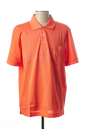 Polo manches courtes orange OLYMP pour homme