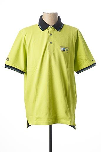 Polo manches courtes vert MONTE CARLO pour homme