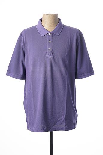 Polo manches courtes violet CASAMODA pour homme
