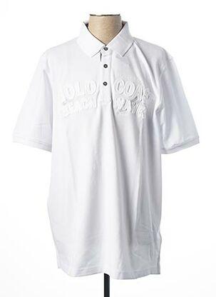 Polo manches courtes blanc CASAMODA pour homme