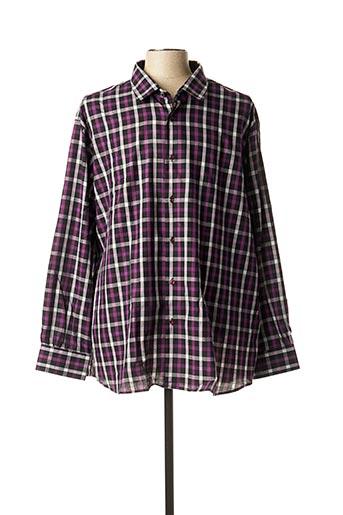 Chemise manches longues violet BELLONI pour homme