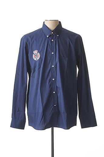 Chemise manches longues bleu ITALIAN LIGHTHOUSE pour homme