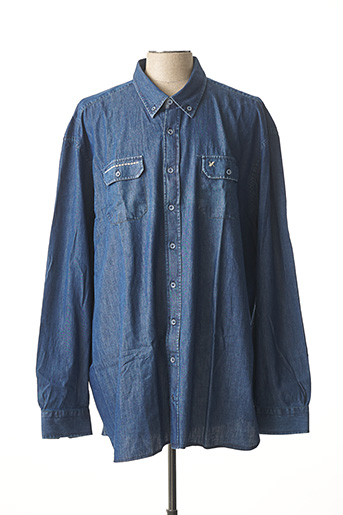 Chemise manches longues bleu MAXFORT pour homme
