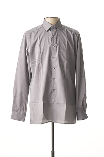 Chemise manches longues gris OLYMP pour homme