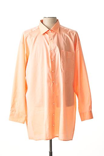 Chemise manches longues orange OLYMP pour homme