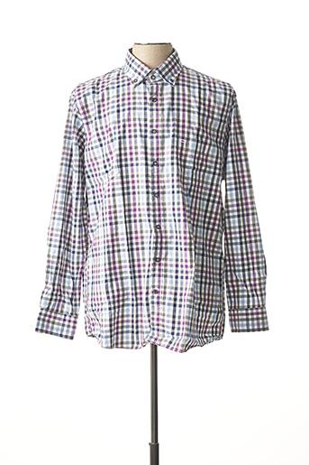 Chemise manches longues violet OLYMP pour homme