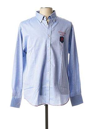 Chemise manches longues bleu RUCKFIELD pour homme