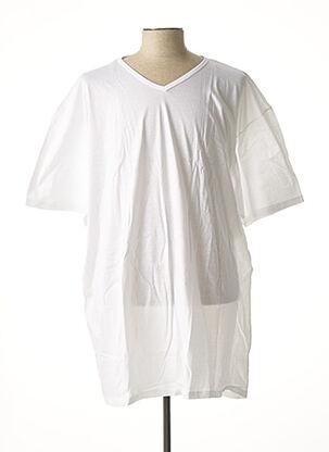 T-shirt manches courtes blanc MAXFORT pour homme