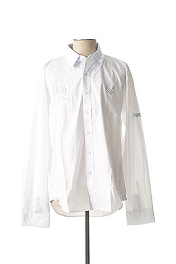 Chemise manches longues blanc COMPTOIR DU RUGBY pour homme