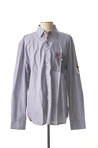 Chemise manches longues bleu ERIC TABARLY pour homme
