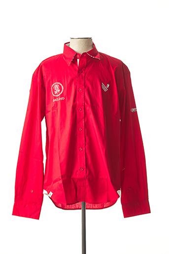 Chemise manches longues rouge COMPTOIR DU RUGBY pour homme