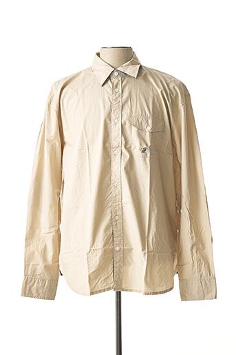 Chemise manches longues beige COMPTOIR DU RUGBY pour homme