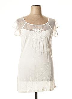 T-shirt manches courtes blanc CARMEN pour femme