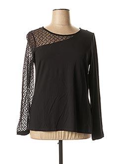 T-shirt manches longues noir MALOKA pour femme