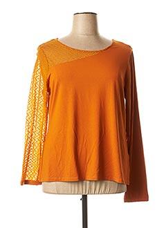 T-shirt manches longues orange MALOKA pour femme