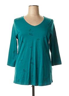 T-shirt manches longues vert CISO pour femme