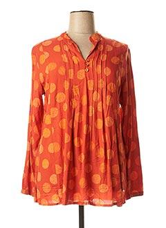 Tunique manches longues orange AGATHE & LOUISE pour femme
