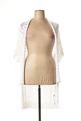 Gilet manches longues blanc APRICO pour femme