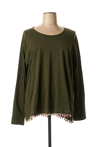 T-shirt manches longues vert ALLER SIMPLEMENT pour femme