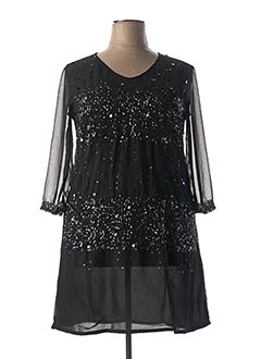 Robe mi-longue noir AGATHE & LOUISE pour femme