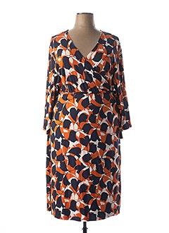 Robe mi-longue orange CISO pour femme