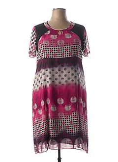 Robe mi-longue rose IMPULSION pour femme