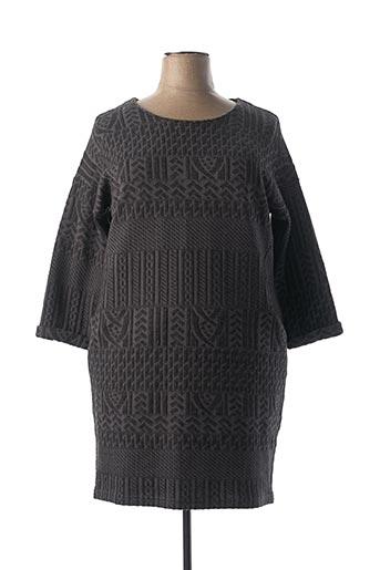Robe pull gris ZELI pour femme