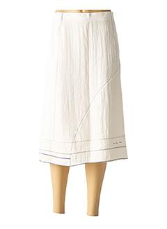 Jupe mi-longue blanc JEAN GABRIEL pour femme