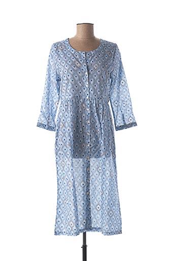 Robe longue bleu CHICOSOLEIL pour femme