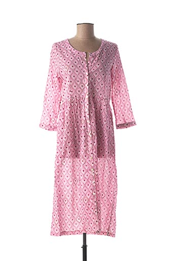 Robe longue rose CHICOSOLEIL pour femme
