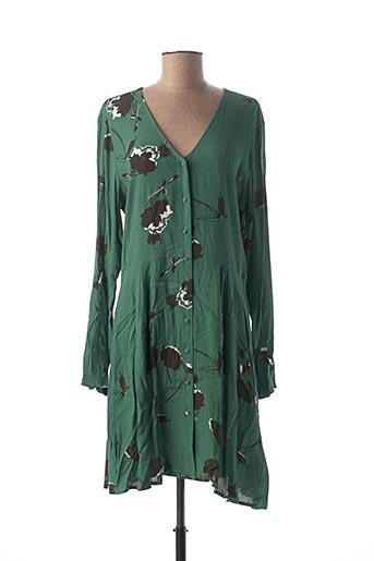 Robe mi-longue vert ICHI pour femme