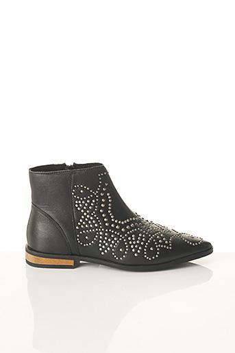 Bottines/Boots noir ICHI pour femme