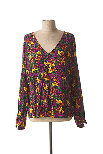 T-shirt manches longues violet ICHI pour femme