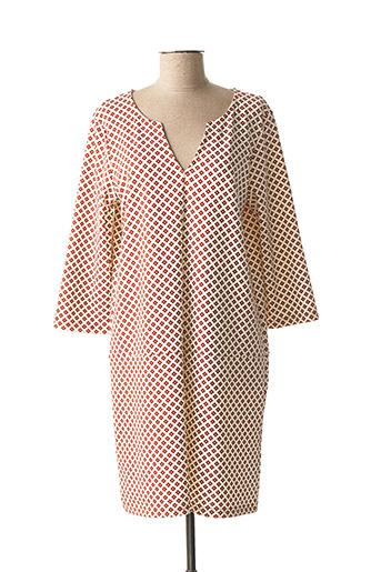 Robe courte blanc ICHI pour femme