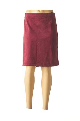Jupe mi-longue rouge ESPRIT pour femme