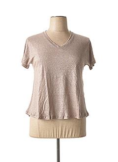 T-shirt manches courtes gris NINATI pour femme