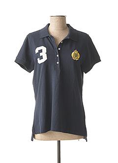 Polo manches courtes bleu SCAPA pour femme